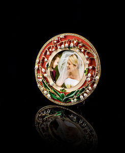 TSAR IMPERIAL - lilies of the valley circular photo frame - Cadre Photo
