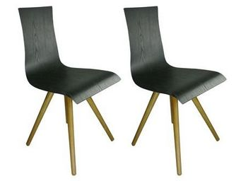 MyCreationDesign - caucase noir - lot de 2 - Chaise