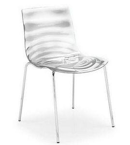Calligaris - chaise design l'eau de calligaris transparente - Chaise