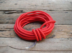 COMPAGNIE DES AMPOULES A FILAMENT - cable textile rouge - Cable �lectrique