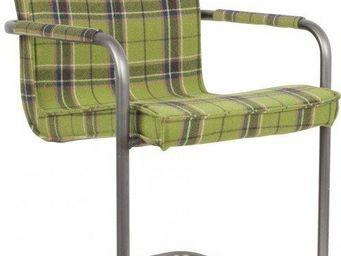 ZUIVER - fauteuil zuiver scotty tissu écossais vert - Chaise