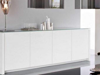 Calligaris - buffet bas mag de calligaris blanc brillant avec p - Buffet Bas