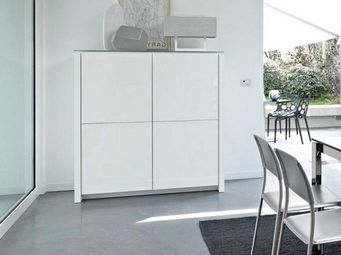 Calligaris - buffet mag 4 portes de calligaris blanc avec plate - Buffet Haut