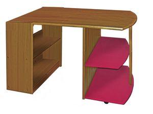 WHITE LABEL - bureau enfant en pin massif coloris antique et fu - Bureau Enfant