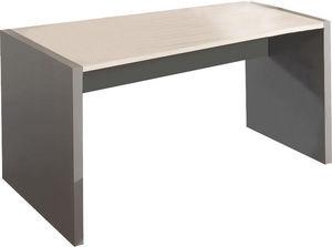 WHITE LABEL - bureau 160 cm en bois coloris gris et chêne clair - Bureau