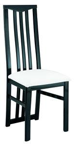 COMFORIUM - lot de 2 chaises noires et blanches ultra design - Chaise