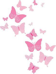 Funtosee - stickers muraux les papillons (lot de 16) - Sticker Décor Adhésif Enfant