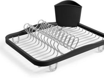 Umbra - porte vaisselle avec porte ustensiles amovible - Egouttoir