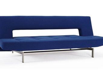 INNOVATION - canapé design wing bleu convertible lit 110*200 cm - Banquette Clic Clac