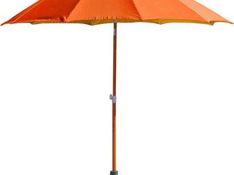 PROLOISIRS - parasol rond inclinable aluminium 2,70m orange - Parasol
