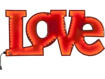 Kare Design - applique love rouge led - Applique