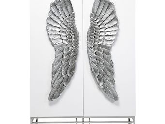 Kare Design - armoire showtime wings - Armoire À Portes Battantes