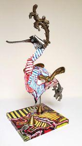 ARTBOULIET - poignée de piaf - Sculpture Animalière