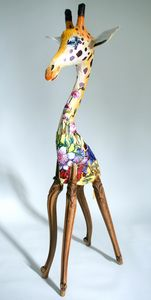 ARTBOULIET - girafon - Sculpture Animalière