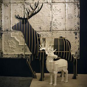 ALFONZ - grand cerf - Sculpture Animalière