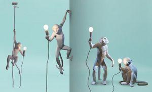 SELETTI - monkey lamp - Suspension