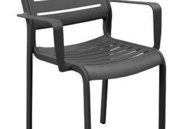 PROLOISIRS - fauteuil design belhara (lot de 2) gris - Fauteuil De Jardin