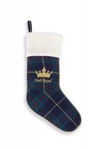 FRENCH KING - ecossais vert - Chaussette De Noël