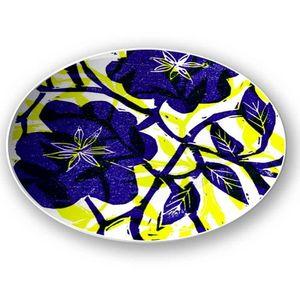 la Magie dans l'Image - assiette fleurs bleues - Assiette De Présentation