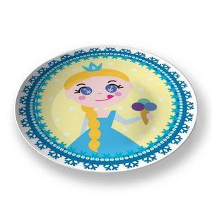 la Magie dans l'Image - assiette héros reine des neiges - Assiette De Présentation
