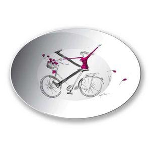 la Magie dans l'Image - assiette un vélo - Assiette De Présentation