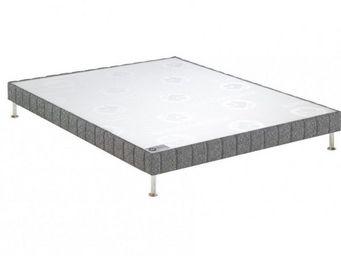 Bultex - bultex sommier tapissier confort ferme gris flane - Sommier Fixe À Ressorts
