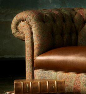 De Le Cuona - antique paisley - brick - Tissu D'ameublement Pour Siège