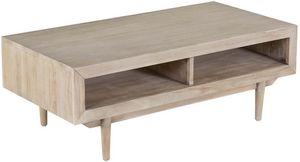 ZAGO - table basse en teck sablé - Table Basse Rectangulaire