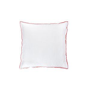 BLANC CERISE - drap housse - percale (80 fils/cm²) - uni moka - Coussin Carré