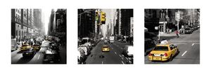 Nouvelles Images - affiche yellow cabs new york - Affiche