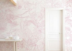 Ohmywall - jungle tropical rose - Papier Peint Panoramique