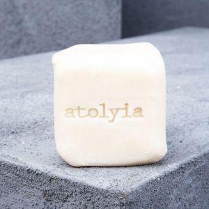 ATOLYIA - ensemble de 4 savons en pierre d'olive assortis - Savon