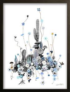 Cm Creation - vitrine cactus bleu - Décoration Murale