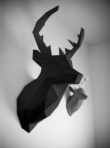 PAPERTROPHY - xl cerf noir - Trophée De Chasse