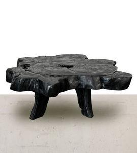 Atmosphere D'ailleurs - bois brûlé - Table Basse Forme Originale
