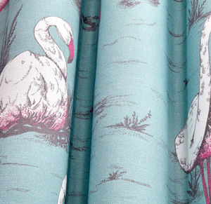 Cole & Son - flamingos linen union - Tissu D'ameublement