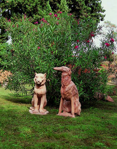 Enzo Zago - chiens - Sculpture Animalière