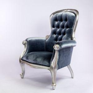 DECO PRIVE - fauteuil baroque gris - Autres Fauteuils