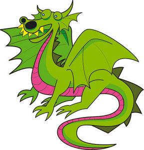 DECOLOOPIO - dragon de la féerie - Sticker Décor Adhésif Enfant
