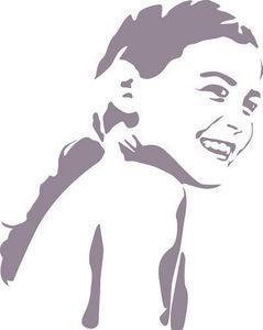 DECOLOOPIO - portrait sur mesure - Sticker Décor Adhésif Enfant