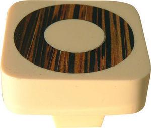 L'AGAPE - bouton de tiroir cercle bois incrusté - Bouton De Tiroir