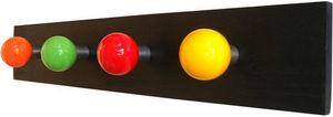 L'AGAPE - patère 4 boules sur bois - Patère