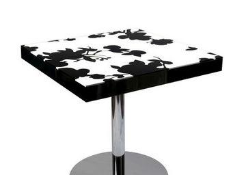 Etc Creations - table diner fleur - Table De Repas Carrée