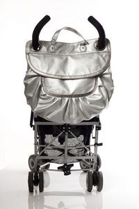 MAGIC STROLLER BAG - glam silver - Sac � Langer