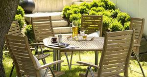 GARVIDA - natura - Table De Jardin Ronde