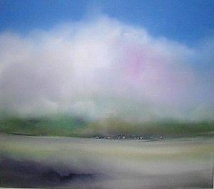 www.maconochie-art.com - marsh herd - Huile Sur Toile Et Huile Sur Panneau