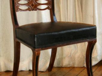 Camille Burgi - suite de six chaises anglaises époque empire - Chaise