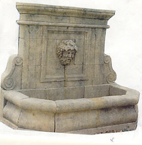 Bechu Materiaux Anciens -  - Fontaine Murale D'extérieur