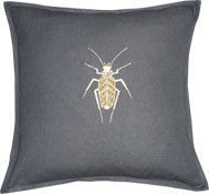 Barbara Coupe - gold bug - Coussin Carré