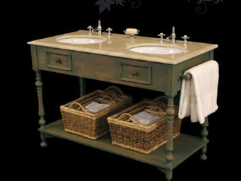 Acajou - uzes - Meuble Double Vasque
